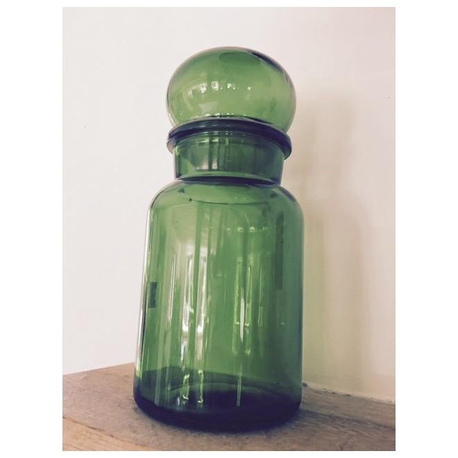 bocal vintage verre vert baramarket. Black Bedroom Furniture Sets. Home Design Ideas