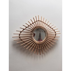 Rattan clover mirror Bakker made with love