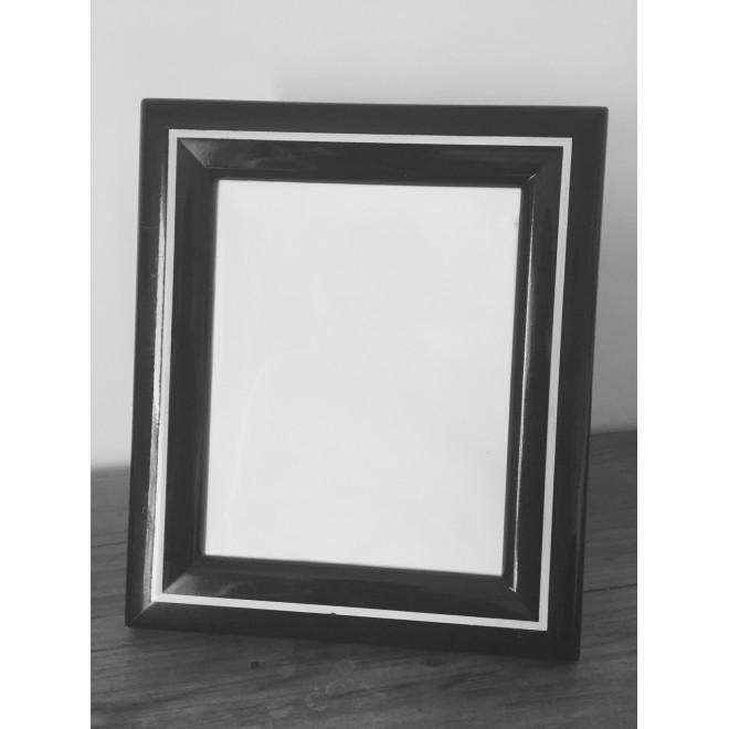Cadre vintage laqué noir&blanc