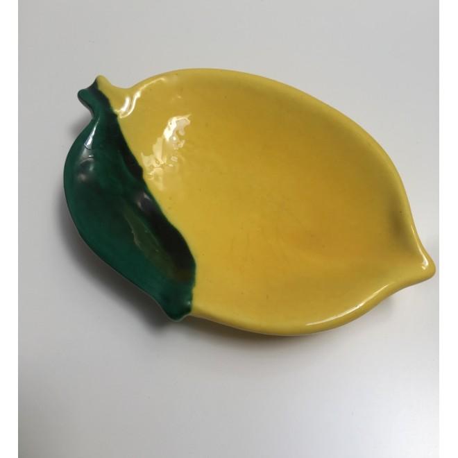 petit plat céramique Vallauris citron vintage