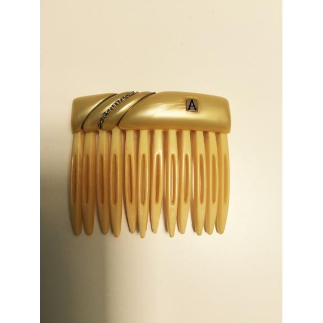 Peigne à cheveux résine jaune Alexandre