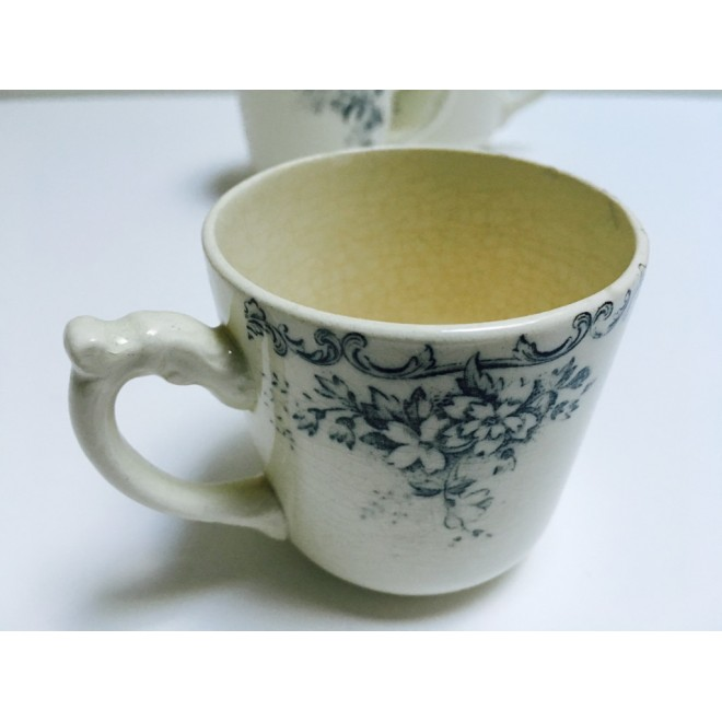 Lot de 3 tasses à café en porcelaine