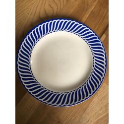 Petite assiette vintage motifs bleus