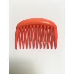 Peigne à cheveux orange vintage
