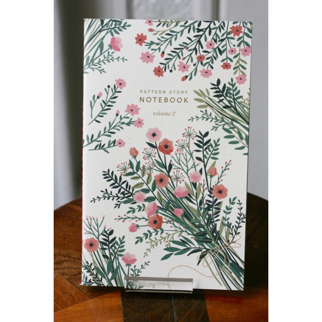 carnet motif fleurs pages blanches