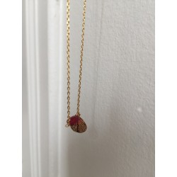 Collier GIN perle fuschia