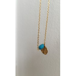 Collier GIN perle turquoise