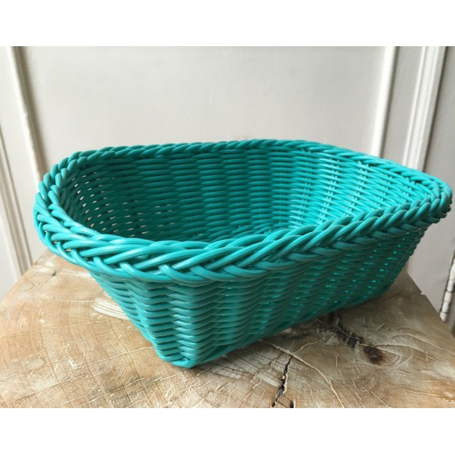 Corbeille turquoise/menthe