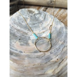 Collier ANNEAU turquoise
