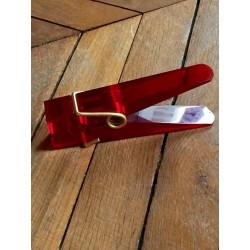 Vintage big red plexiglass clothespin
