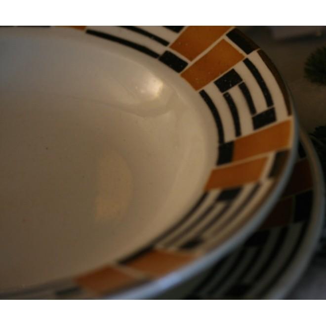 Lot assiettes plates & creuses vintage Badonvillier France