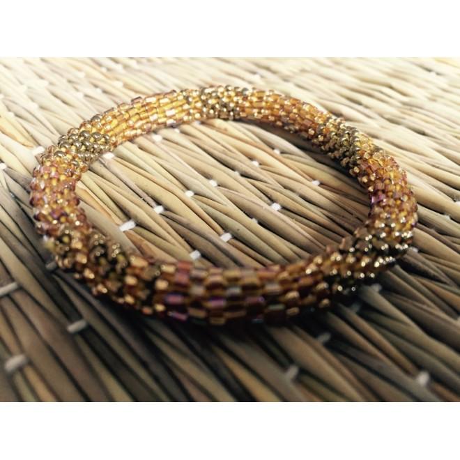 IN bracelet perle doré & bronze