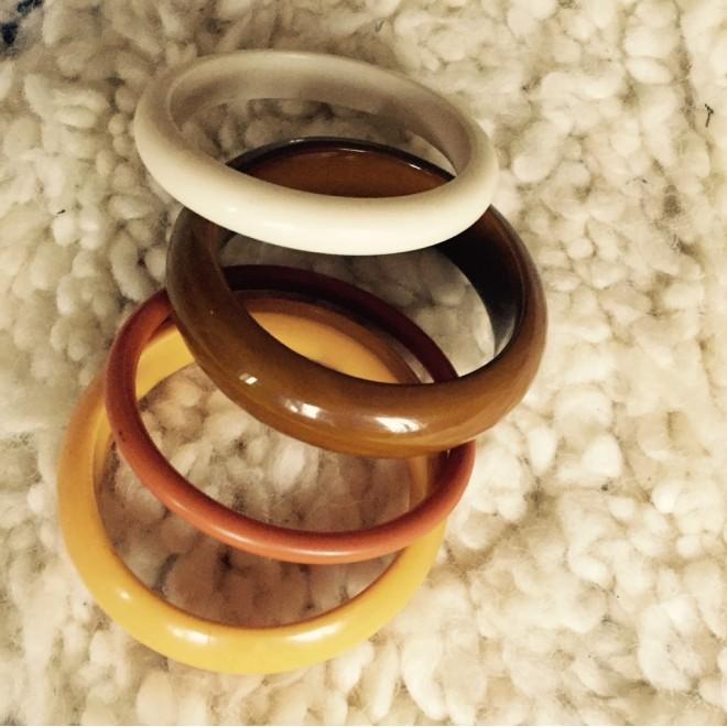 Lot de 4 bracelets vintage