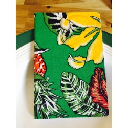 Carnet A5 tissu tropical by Bakker made with love